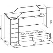 Двухъярусная кровать Даллас Fmebel