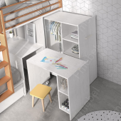 Двухъярусная кровать со шкафом и столом Ла-Пас Fmebel 90x200