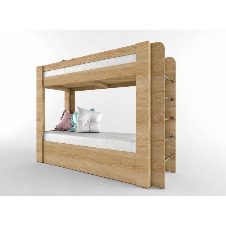 Двухьярусная кровать лестница сбоку НИТ 70x190 Fmebel