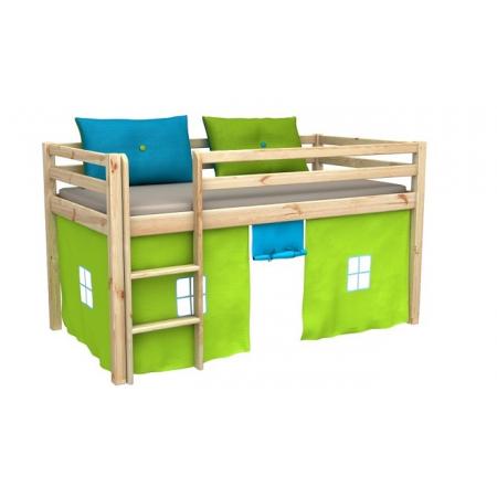 Кровать-чердак низкая с матрасом GABI Fmebel EB 80x180