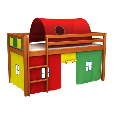 Кровать-чердак низкая с матрасом GABI IGLO Fmebel EB 80x180