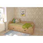 Кровать с боковой стенкой без ящиков НИТ 80x190 Fmebel