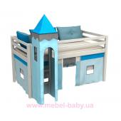 Кровать-чердак низкая с матрасом GABI WIEZA Fmebel EB 80x180