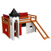 Кровать-чердак с горкой и матрасом GABI Z WIEZA Fmebel EB 80x180