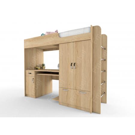Кровать-чердак со столом НИТ 70x190 Fmebel