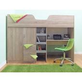 Кровать-чердак со столом Йоханнесбург Fmebel 90х190
