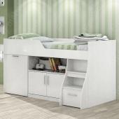 Кровать-чердак со столом Мичиган Fmebel 80х190