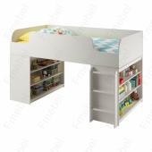 Кровать-чердак с игровой зоной Аризона Fmebel 80х170