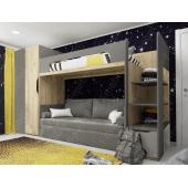 Кровать-чердак с местом под диван Луизиана Fmebel