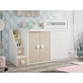 Кровать-чердак со шкафом Джорджия Fmebel 80x190