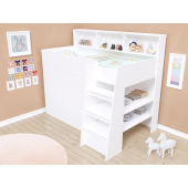 Кровать-чердак со шкафом Иллинойс Fmebel 80x190
