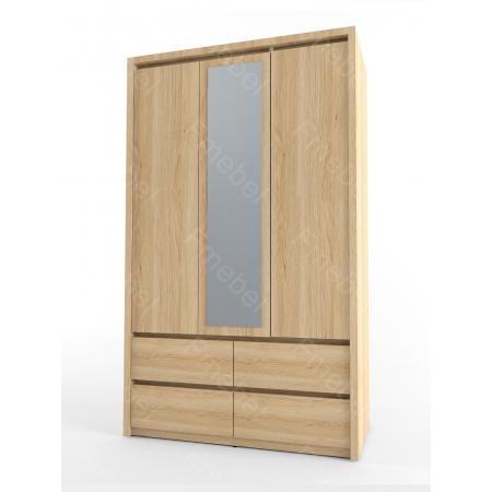 Шкаф трехдверный с зеркалом Стиль Fmebel