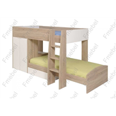 Двухъярусная кровать со шкафом Самарканд Fmebel 90x200