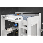 Кровать-чердак со столом и шкафом Тулуза Fmebel 90x200