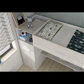 Кровать-чердак со столом и шкафом Лилль Fmebel 90x200