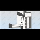Кровать-чердак двухместная Монреаль Fmebel
