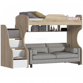 Кровати-чердаки с местом под диван