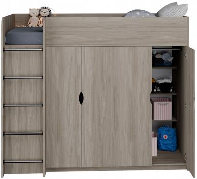 Кровати-чердаки со шкафом